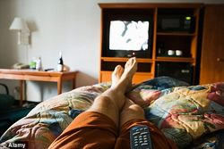 TV from bed