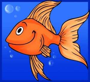 Cartoon-goldfish