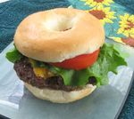 Mini bagel burger