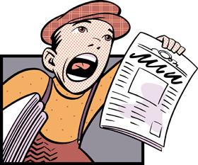 Newspaper-printing