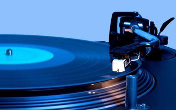 Music turntable vinyl record player