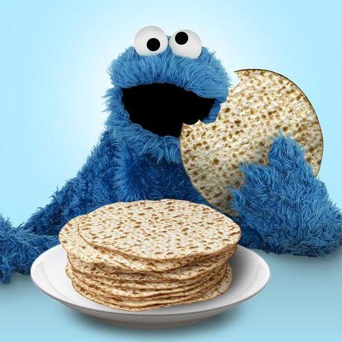 Cookie monster matzoh