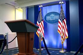 White House press posium